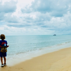 My boy and the sea